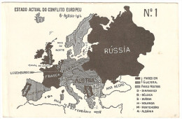 Map.Carte.First War World. Première Guerre Mondiale.Germany. Italia.France.England. Nederland.España.Militaire.Military. - Guerre 1914-18