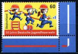 BRD - Michel 3099 - ** Postfrisch Eckrand Unten Rechts - 60C 50 Jahre Deutsche Jugendfeuerwehr - BRD