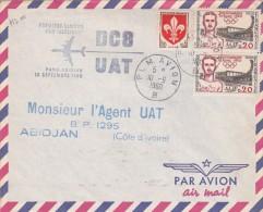 France 1960 UAT First Flight Cover By DC-8  Paris-Abidjan - France