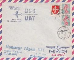 France 1960 UAT First Flight Cover By DC-8  Paris-Dakar - France