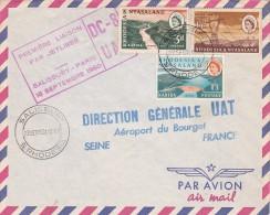 France 1960 UAT First Flight Cover By DC-8  Salisbury-Paris - France