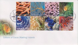 Cocos Islands - Keeling - FDC Mi 464-471 Colours Of Cocos (Keeling) Islands - Marine Fauna - Coral - Starfish - 2011 - Cocoseilanden
