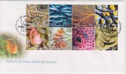 Cocos Islands - Keeling - FDC Mi 472-479 Colours Of Cocos (Keeling) Islands - Marine Fauna - Coral - Fish - 2011 - Cocoseilanden