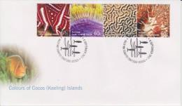 Cocos Islands - Keeling - FDC Mi 480-483 Colours Of Cocos (Keeling) Islands - Marine Fauna - Coral - Fish - 2011 - Cocoseilanden