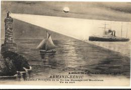 ARMAND BÉHIC  - Paquebot Francais Des Messageries Maritimes Vue De Nuit 112 - Dampfer