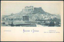 Greece Athens Acropolis & Temple Of Jupiter UNDIVIDED UNUSED - Grecia