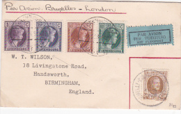 Luxembourg 1928 Flight Cover Bruxelles-London - Luxembourg