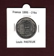 2 francs de FRANCE - ann�e 1995 - Pi�ce de 2f. en nickel  -  Louis  PASTEUR  - voir les 2 scannes