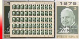 Rwanda 0642**  20c Ann�e Sainte -St. Jean XXIII  -  feuille / sheet of 50 MNH
