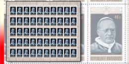 Rwanda 0403**  40c  Pape SS Pie XI - Feuille / Sheet de 50 MNH
