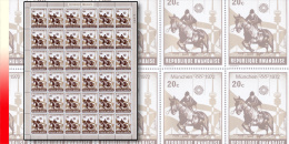 Rwanda 0485**  20c  Jeux Olympiques de Munich -  Feuille / Sheet de 30 MNH - Equitation - Cheval - Horse