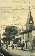 HAUTEVILLE - L'église Ecrit Dans Ce Clocher Souvenir Guerre Tirs Artillerie Arbre Orme Magnifique Vend Peaux De Lapins - Other Municipalities
