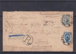 Russie - Lettre Recommandée De 1884 - Entier Postal - Expédié Vers La Suisse - Cachet Ambulant - Cachet De Fleurier - - 1857-1916 Imperium