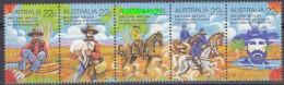 Australia 1980 Walzing Matilda Strip 5v ** Mnh (20357) - 1980-89 Elizabeth II
