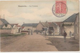 CPA 28 DESSAINVILLE Rue Principale Carte Colorisée 1907 - France