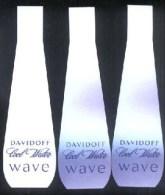 3 X Singapore Perfume Cards Cartes Parfumees --  DAVIDOFF COOL WATER WAVE - Modernes (à Partir De 1961)