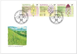 New 2015 Flora Flowers Orchids Orchidee FDC- Orchis Pallens, Orchis Simia, Orchis Ustulata - Orquideas