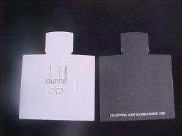 3 X Singapore Perfume Cards Cartes Parfumees --  Dunhill LONDON - Perfume Cards