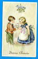 FR087, Bonne Année, Fantaissie, Jeux De Cartes, Enfants, 7027, Non Circulée - New Year