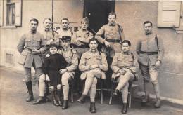 ¤¤  -   Carte-Photo Militaire  -   Groupe D'Officiers  -  170 Sur Les Cols    -  ¤¤ - Matériel