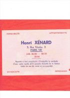 BUVARD XENARD 3 RUE VEZELAY PARIS 8 IMMOBILIER SYNDIC - Buvards, Protège-cahiers Illustrés