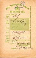 ALLEMAGNE. Superbe Document De 1888. - Documents Historiques