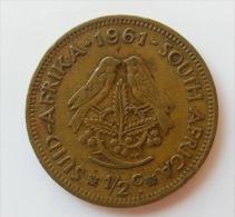 SUDAFRICA 1/2 CENTS 1961 - Sud Africa