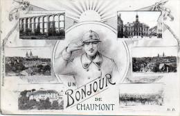 UN BONJOUR DE CHAUMONT    Militaire Militaria  Postee 1922 -Z- - Chaumont