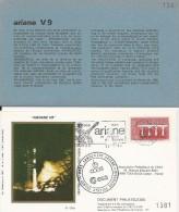 ARIANE V 9  Jeu De 1 Enveloppe AP CNES  + Pochette Bleue - Zonder Classificatie