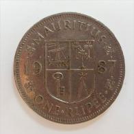 MAURITIUS 1 RUPEE 1987 - Mauritius