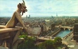 7-fra102. Postal Francia. Paris . El Diablo (Torres De Notre Dame) - Notre Dame De Paris