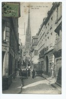 CPA ROUEN ANIMEE, ANIMATION DANS LA RUE DU BAC, SEINE MARITIME 76 - Rouen