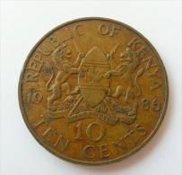 KENIA 10 CENTS 1986 - Kenia