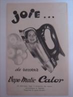 """Publicité Ads 1955 """" CALOR Fer A Repasser Pin Up """" - Publicités"""
