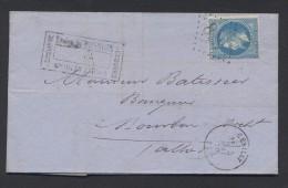 ALLIER 03 LAC CERILLY Tad 16 Du 5 Mai 1870 + GC  Sur N° 29  TTB - Marcophilie (Lettres)