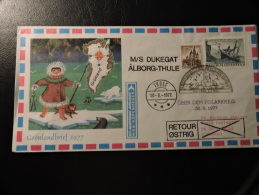 Alborg - Thule 1977 Expedition Polar Bear Ours Polar Cover - Philatélie Polaire