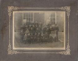 VILLERS POTERIE : Superbe Photo Ecole - 1917 - La Couque Scolaire - Dimensions Carton 26/20 - Photo 17/12 Cm - Gerpinnes