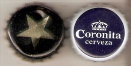 LOTE DE 2 CHAPAS DIFERENTES DE CERVEZA ESTRELLA NEGRA Y CORONITA (BEER-BIERE) CORONA - Cerveza