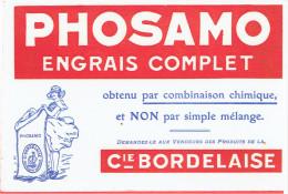 BUVARD PHOSAMO ENGRAIS COMPAGNIE BORDELAISE BORDEAUX - Agricoltura