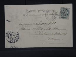 FRANCE-détaillons Collection OBL DE FORT NATIONAL  (ALGERIE) SUR TYPE BLANC SUR CP 1903 POUR PUTEAUX A VOIR LOT P2802 - 1877-1920: Semi Modern Period