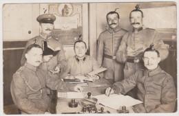 Soldaten-Portrait, Saarbr�cken, Infanterie-Regiment 70, Schreibstube, Feldpost, Foto-Ak, Erster Weltkrieg