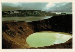 ASKJA:  IL  CRATERE  DEL  VULCANO       (NUOVA CON DESCRIZIONE DEL SITO SUL RETRO) - Islanda