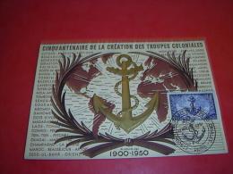 Cinquantenaire De La Creation Des Troupes Coloniales 1951 - Other