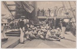 Matrosen, S.M.S. R�gen, Feldpost, Hilfsstreuminendampfer R�gen, Marine Deutsches Kaiserreich, Postkarte