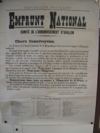 Affiche Emprunt National Arrondissement d Avallon Yonne 89 Conseiller MOUCHOUX