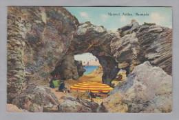 AK BERMUDA 1936-10-16 New-York Paquebot Natural Arches Foto Yankee - Bermudes