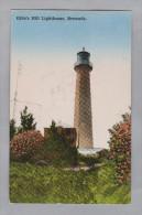 AK BERMUDA ~1930 Schiffstempel Gibb's Hill Leuchtturm Foto Yankee And Phoenix Store - Bermudes