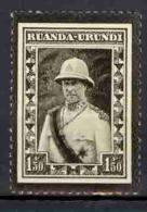 RUANDA-URUNDI 1934 ISSUE COB 107 MNH