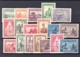 RUANDA-URUNDI 1931 ISSUE COB 92/106 + 111/113 MNH