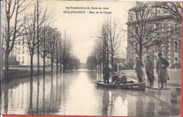 --  92 -- LES INONDATIONS DE PARIS --  BILLANCOURT - RUE DE SAINT CLOUD -- ANIMATION - Boulogne Billancourt